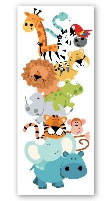 Jungle Animals Long Canvas