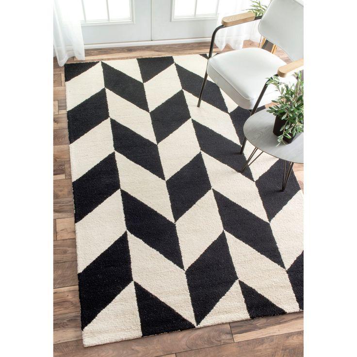 nuLOOM Handmade Mod Tiles and White Runner Rug