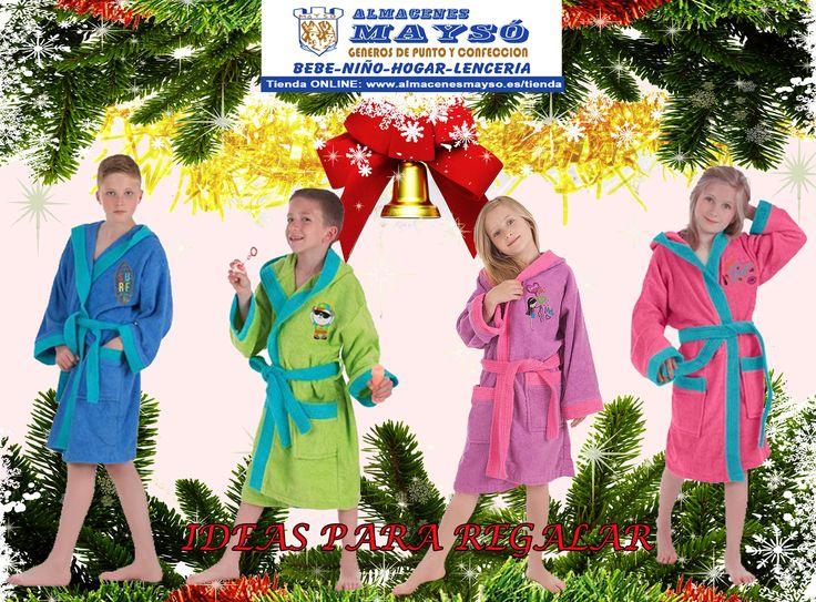 IDEAS PARA #REGALAR! #Navidad con #regalos de calidad, #albornoz para niño o niña  #tiendaonline : www.almacenesmayso.es/tienda #shoponline #textilhogar #ropabebé #complementosbebé #lenceria #ropamujer #ropahombre #ropaniños #ropaniña #albornozniña #albornozniño #regalosnavidad #regalosoriginales
