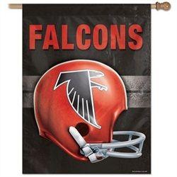 OneStopFanShop: Atlanta Falcons Flags - Vertical Outdoor Falcons House Flag