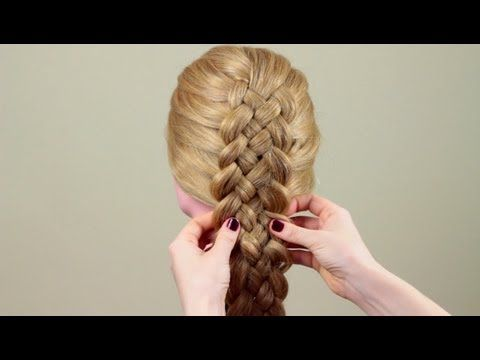 This is a tutorial video for five strand braiding. It is spoken in another language (Russian I think?) but if you use the [cc] button on the bottom right it gives English subtitles.