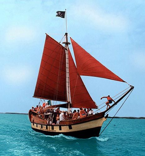 National Park of Isla Contoy: If you are an individual traveler, we invite you to take one of our regular tours on Historical Motor Sailor recreation of Pirate Jean Laffits's sloop of war, every Tue.,Thu. and Sun. 9am-5pm.  $ 80 includes: Snorkel stop at the barrier reef*; Snorkel gear; Open bar; Delicious fish BBQ, catch of the day; English speaking tour guide.