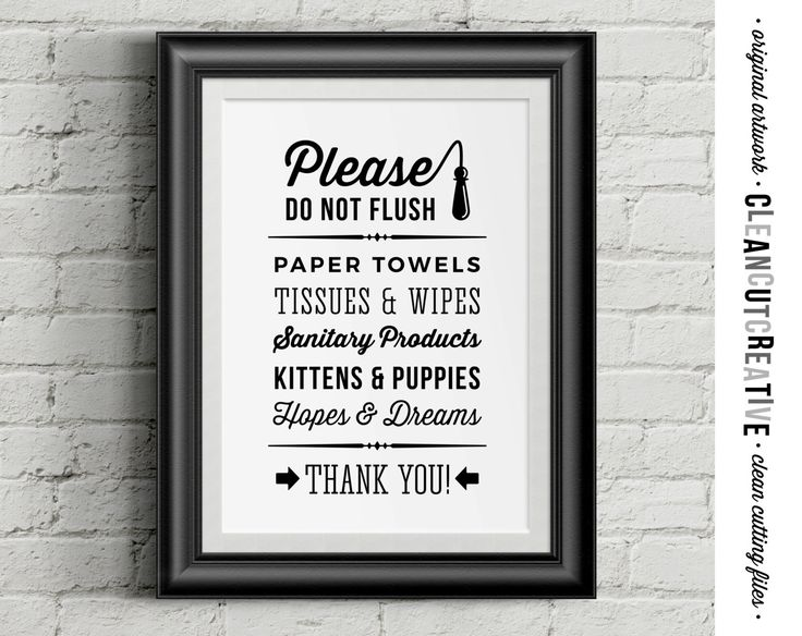 Please Do Not Flush Hopes & Dreams funny toilet quote