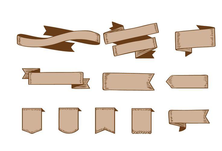 Ribbon Vector Pack #ribbons #vectorpack #handdrawnvector http://www.vectorvice.com/ribbons-vector-pack