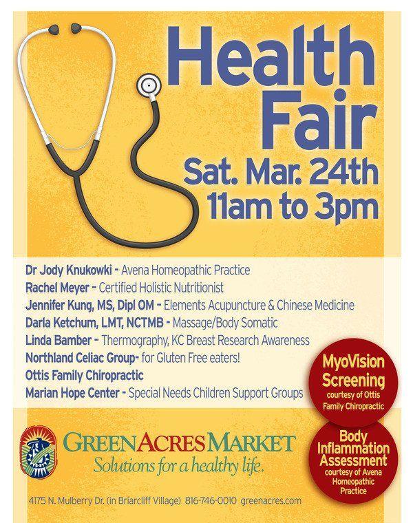 Health Fair Flyer Template Free Health Fair At Green Acres Market Health Fair Flyer Template Poster Template Free