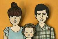 Custom Paper Dolls by Jordan Grace Owens. Absolutely precious; I wanna do this when I have a family of my own :)