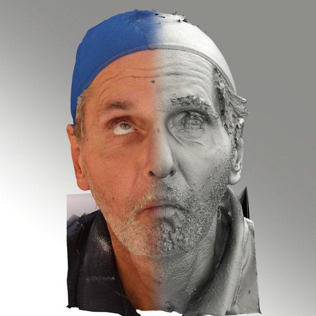 3D Head Scan Of O Phoneme   Richard