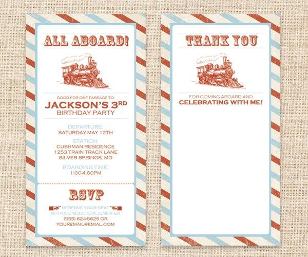 87 best All Aboard the Choo Choo Train images on Pinterest - fresh birthday party invitation ideas wording