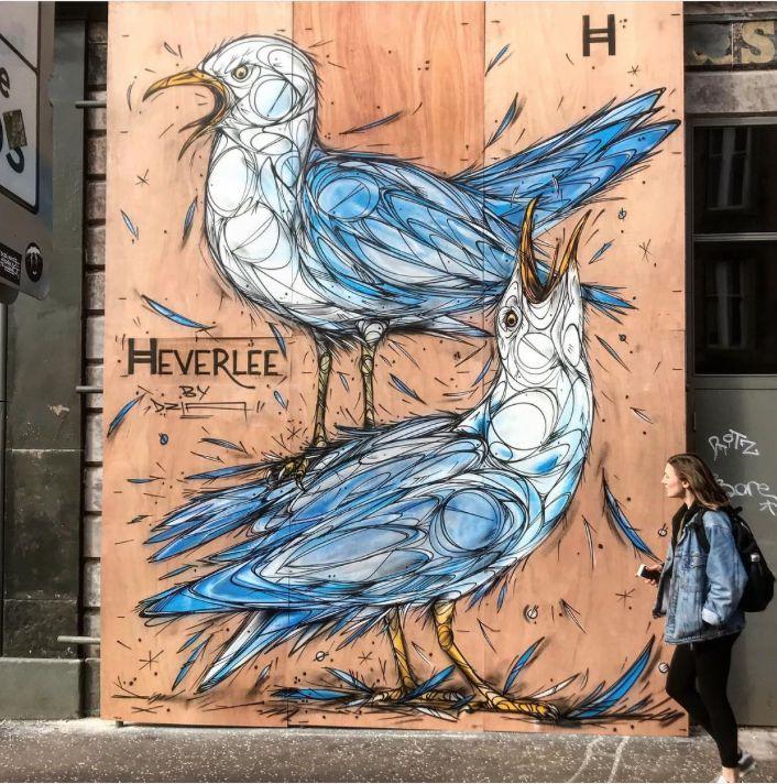 "Dzia, ""Seagulls Shoutout"" in Glasgow, UK, 2018"
