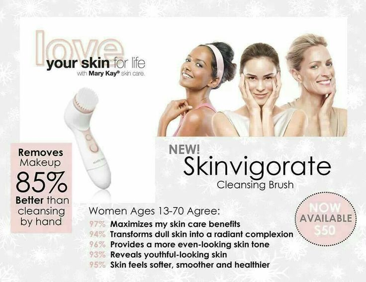 The skinvigorate brush is amazing. You don't realize how much makeup stays on our face with a regular cleanser. The brush leaves your skin with a natural glow. Login to my website to take advantage of FREE shipping with $75 purchase! www.marykay.com/beatriztavarez