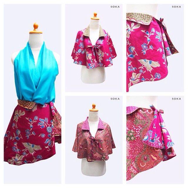 $35 Two sides printes batik cape multi wear, it can be wear as skirt, shop the look at http://www.sokashop.com/shop/batik-collection/neon-pink-batik-cape-two-sides/ #Moldiv #skirt #miniskirt #cape #shortcape #batik #fashion #fashionindo #fashionista #fashionstyle #womentops #womenwear #womenfashion