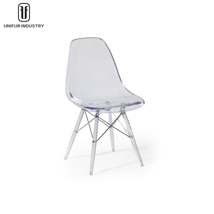 Modern designer plastic chairs, cheap PC dining chairs, transparent dining chairs for indoors