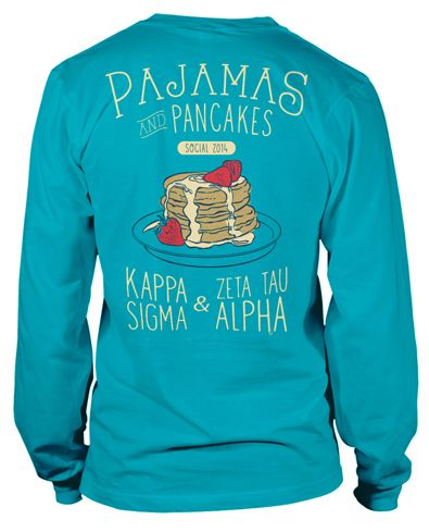 Pajamas and Pancakes! My first custom design on the metrogreek website! #greeklife #graphicdesign