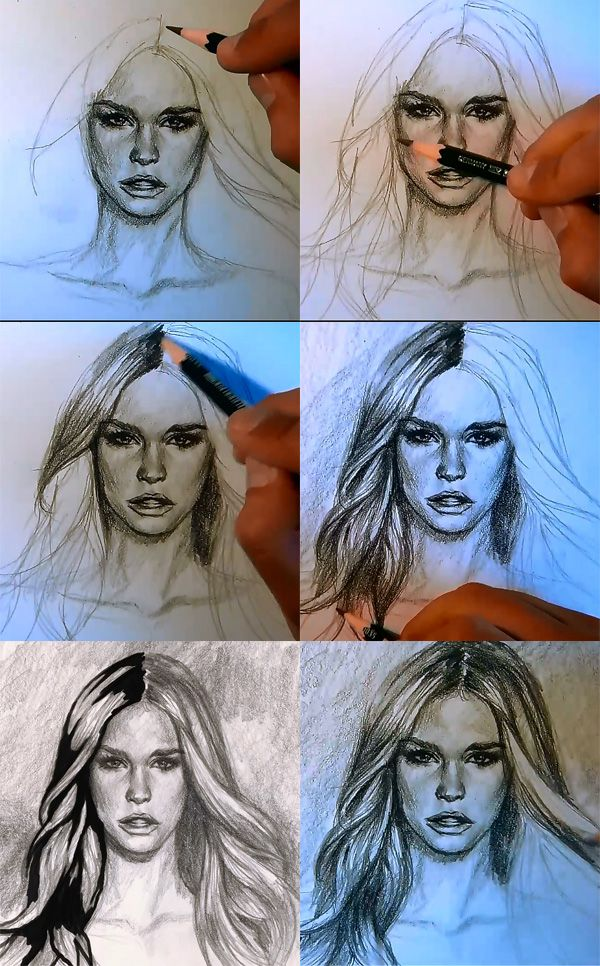 Peachy 25 Best Ideas About How To Draw Hair On Pinterest Hair Sketch Hairstyles For Men Maxibearus