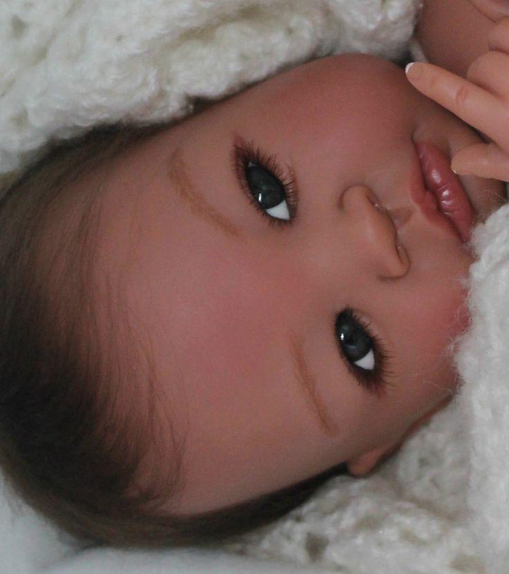 "REBORN BABY ""SHYANN""  Biracial/Ethnic -Glass Eyes-Tummy Plate - Slumberland Hair"
