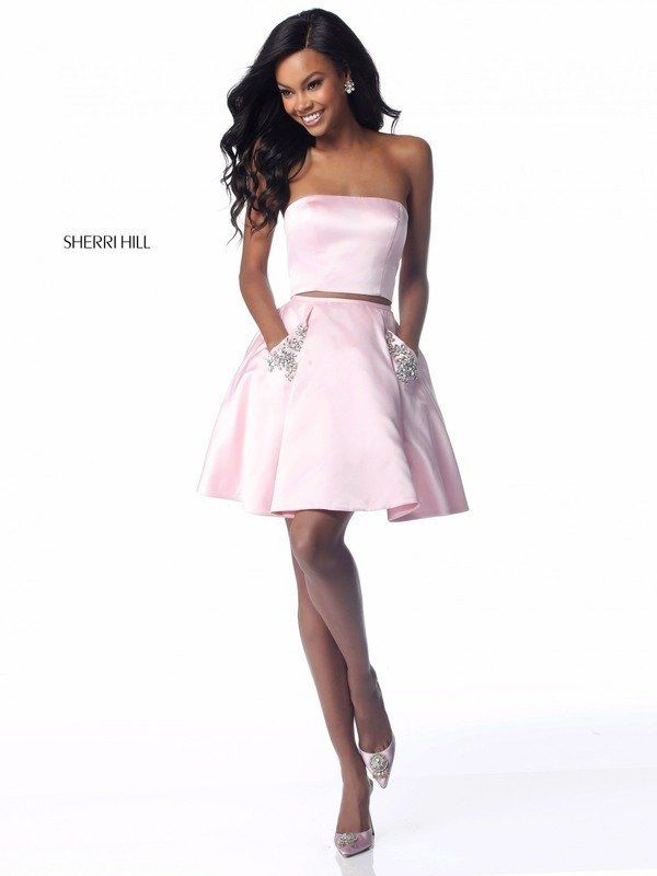 66a4d3ec3aa6 ... Formal Formalwear Store High School Dance Dresses Homecoming  Sweethearts Unique Prom Dresses Sherri Hill Light Pink Blush Short Sherri  Hill Strapless ...