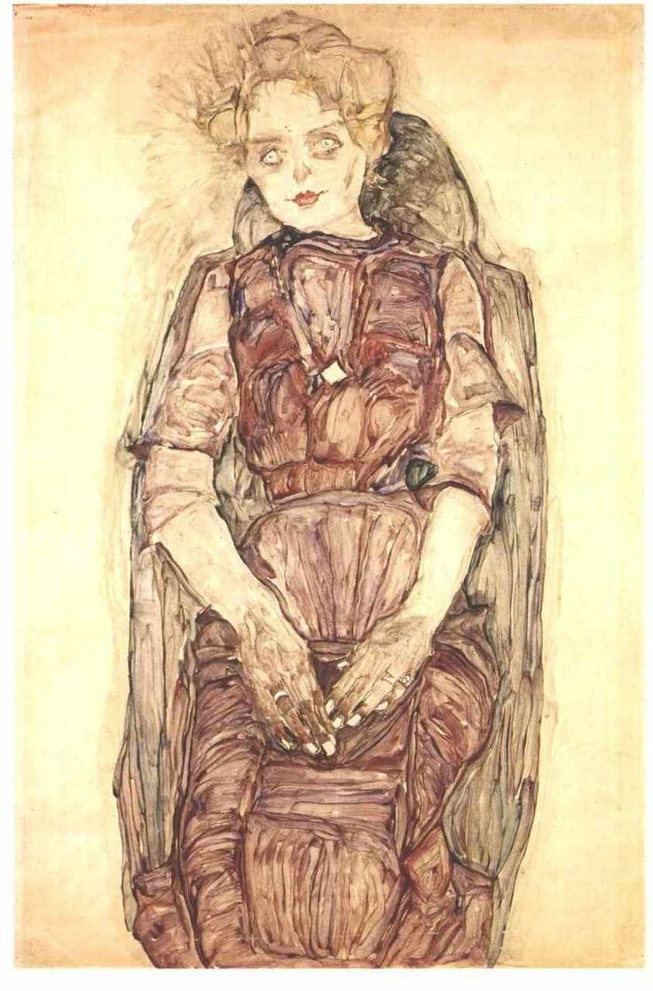 Egon Schiele ~ Sitting Woman
