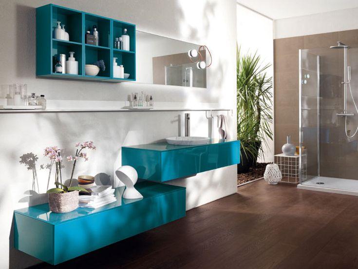 Mobile bagno sospeso design moderno n. 47