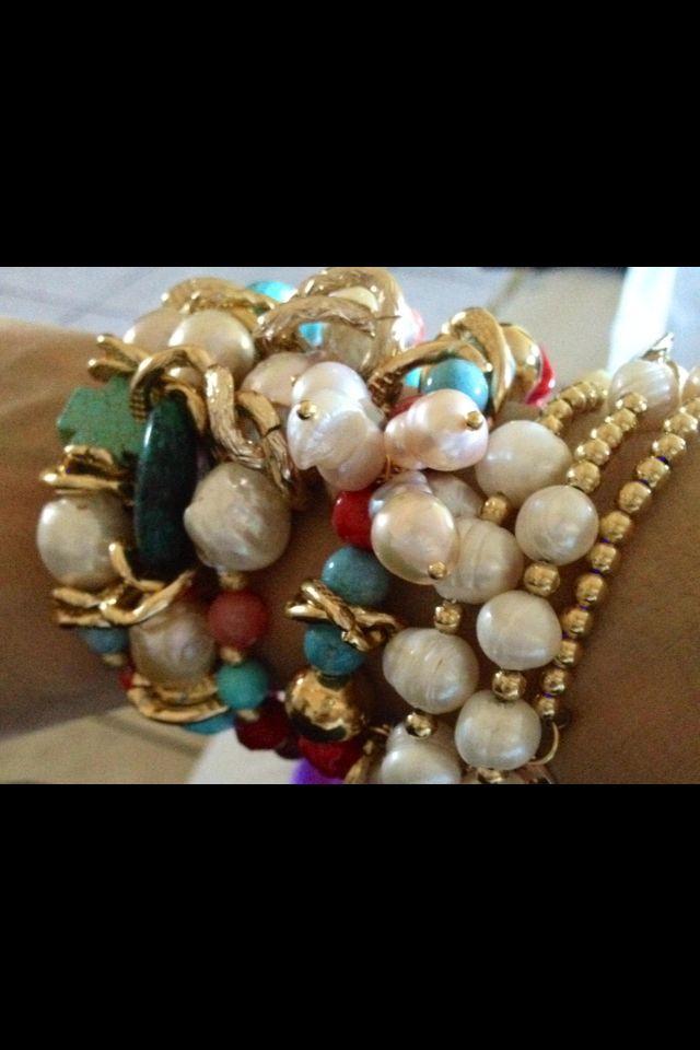Perlas barrocas y piedras semipreciosas!!