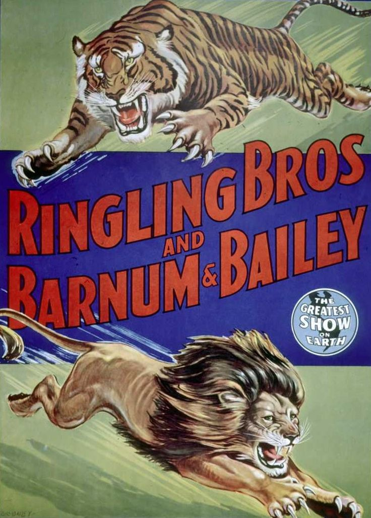 Vintage Ringling Bros and Barnum & Bailey Circus Poster