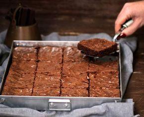 Brownie de chocolate negro con chocolate Nestlé
