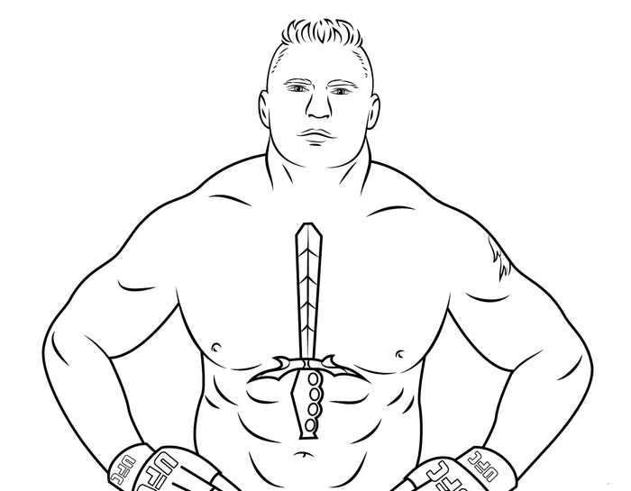 Free Printable Wwe Coloring Page Brock Lesnar In 2020 Wwe