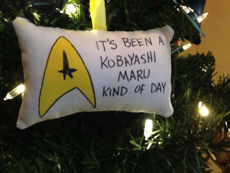 """Star Trek Logo """"Kobayashi Maru Kind of Day"""" Christmas Ornament Mr. Spock Kirk McCoy Scotty Chekov Enterprise Trekkie Trekker FREE SHIPPING by HollyAndHerHobbies on Etsy"""
