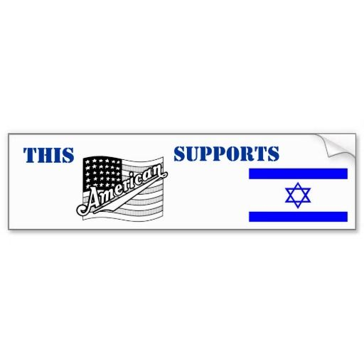 This american supports israel bumper sticker