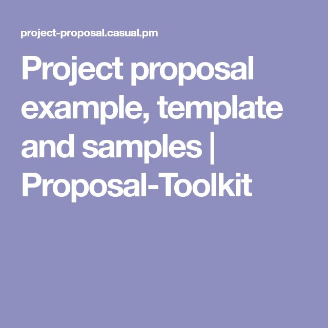 The 25+ best Project proposal example ideas on Pinterest - project proposal