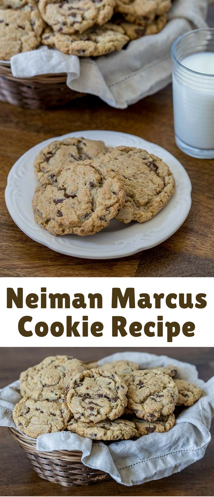 The famous Neiman Marcus Cookie Recipe. Blended oatmeal in the cookie dough is the secret ingredient that gives these cookies just a little more texture and body.