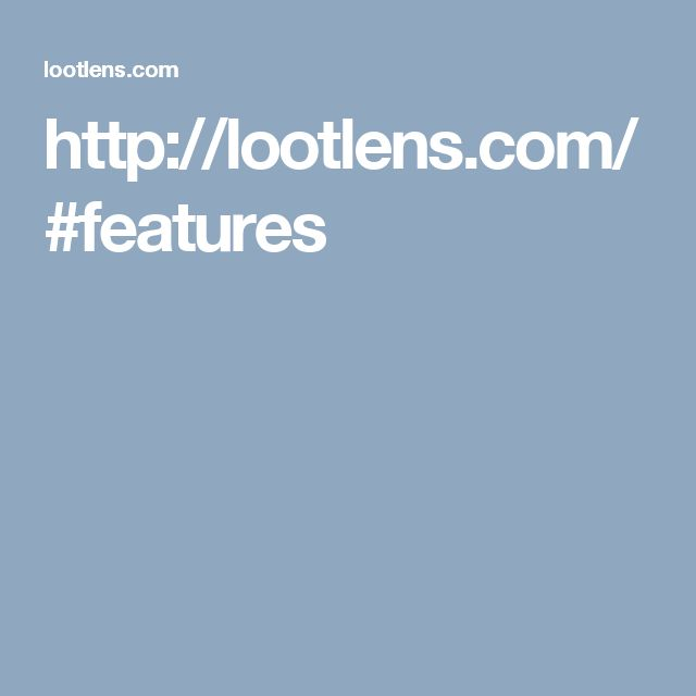http://lootlens.com/#features