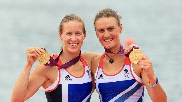 Rowing: Helen Glover, left, and Heather Stanning won Team GB's first gold in the women's pair, and where the first women i history to win Rowing!