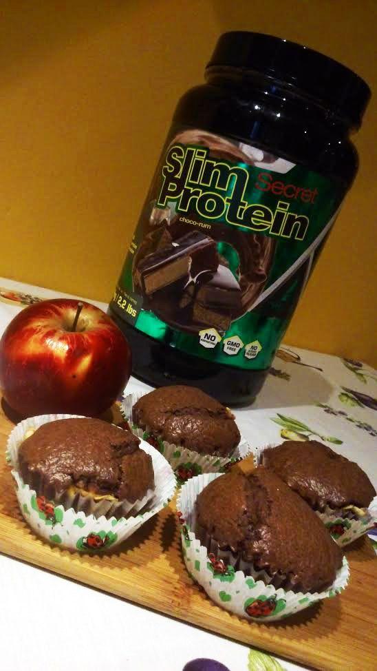 Proteines brownie-muffin almával - Peak girl - Diétás..
