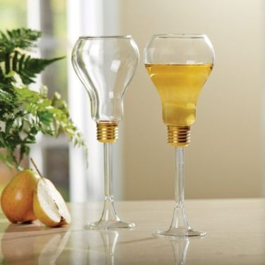 Beautiful Light Bulb Wine Glasses Set of 2 - Celebrate in Style! $25 includes shipping.