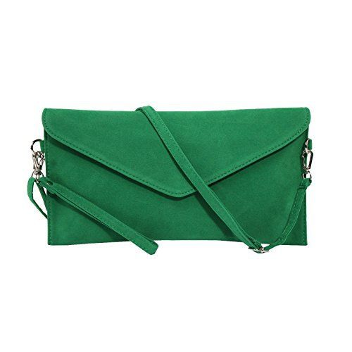 New Trending Clutch Bags: Womens Faux Suede evening Clutch bag shoulder Handbag messenger envelope bags (Green). Women's Faux Suede evening Clutch bag shoulder Handbag messenger envelope bags (Green)  Special Offer: $8.99  377 Reviews Description: Fashion, the atmosphere, highlighting the qualities. Removable Adjustable Matching Shoulder Strap. Nice Satin Lining. Material: Faux Suede...