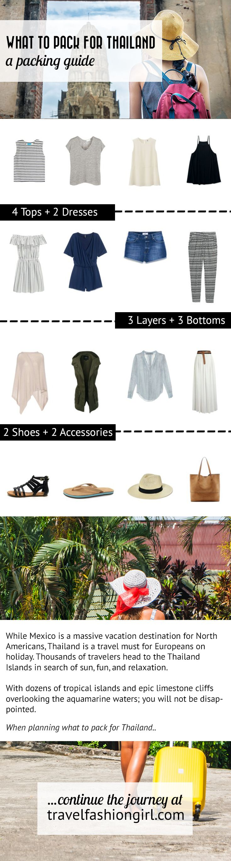 Check out this Thailand packing list If you're heading to Southeast Asia's top beaches and islands. Learn what to wear and what to leave behind! http://travelfashiongirl.com/thailand-packing-list-islands-beaches-and-buckets/ via @travlfashngirl #packing #list #travel