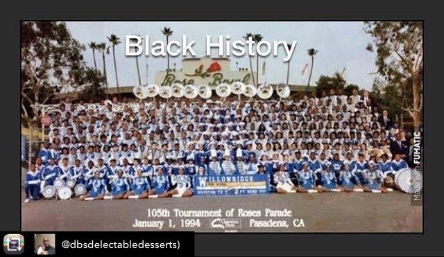 Repost from @dbsdelectabledesserts) using @RepostRegramApp - My Senior Year at the Rose Bowl! History was made January 1 1994 as the first black band ever to lead the 105th Tournament of Roses Parade in Pasadena CA! The Mighty Eagle Band Under the Direction of the Late Great Ronald Thornton Sr. was the staple of high school marching bands for this Nation! #proudeagle #classof1994 #roses #rosebowl