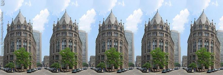 Stereogram by 3Dimka: Boston. Tags: boston,city,architecture,building,house,street,cars,trees, hidden 3D picture (SIRDS)
