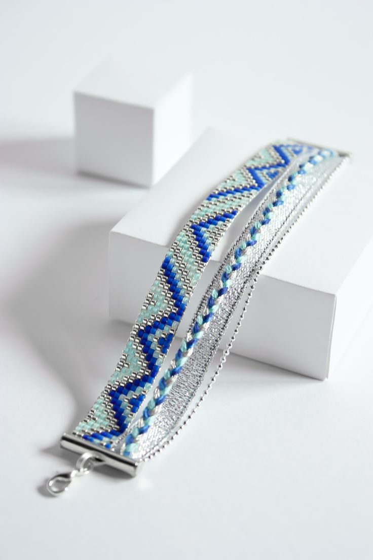 BRACELET TISSÉ PERLES MIYUKI / : Bracelet par tadaam-bijoux