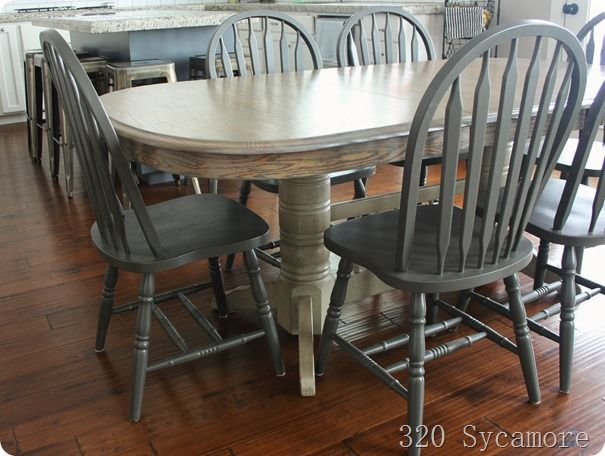 Best 25 oak table and chairs ideas on pinterest refinish table top refinished table and - Refinishing a kitchen table ...