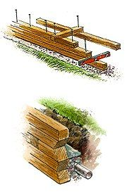 7 Best Images About Timber Retaining Wall And Water Rails