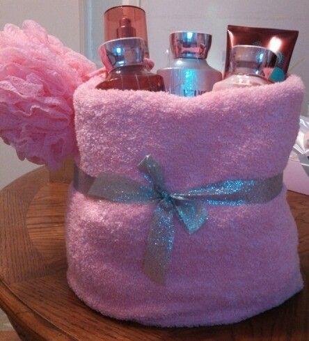 Baby Shower Prize Bath Body Velvet Sugar In A Towel Basket