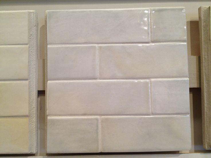 Kitchen Backsplash Tile White Glazed Ceramic