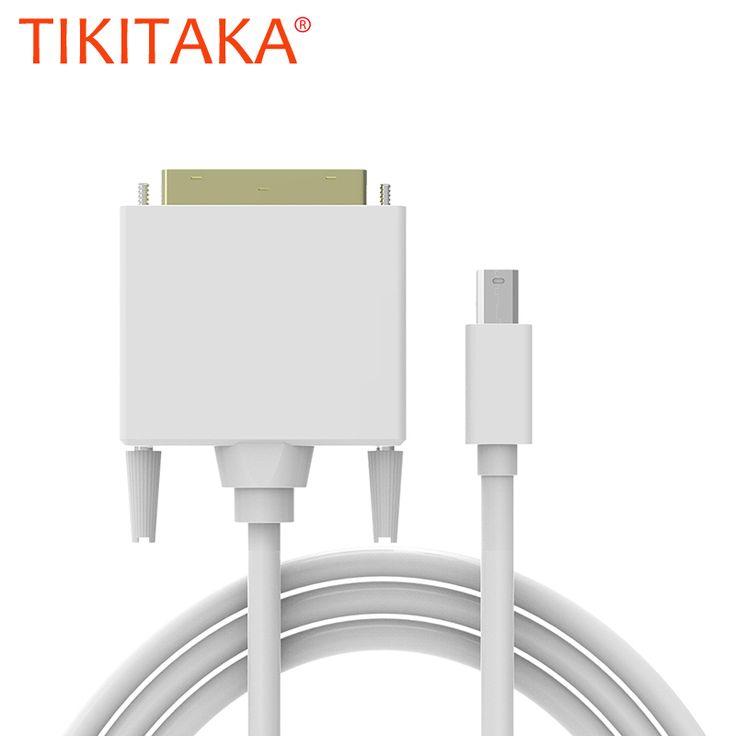 High quality 1.8M mini displayport mini dp to dvi cable adapter converter mini dp male to dvi 24+1 male XC1029