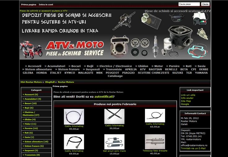 Magazin online piese scutere si accesorii, piese atv si accesorii.