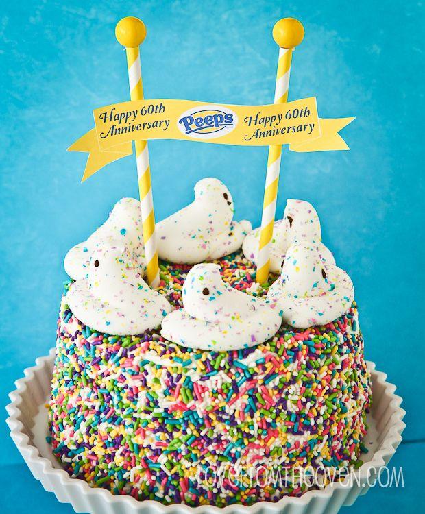 Marshmallow peeps cake recipe