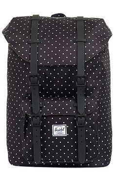 The Little America Mid Volume Backpack in Black Polka Dot by Herschel Supply