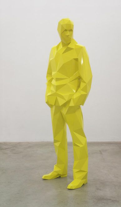 Check this out on leManoosh.com: #Art #caracter #glossy #Human #Origami #sculpture #Triangle #Yellow