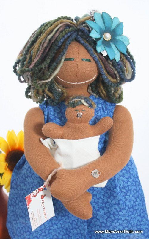 MamAmor Birthing and Breastfeeding doll CLARA available in Etsy!