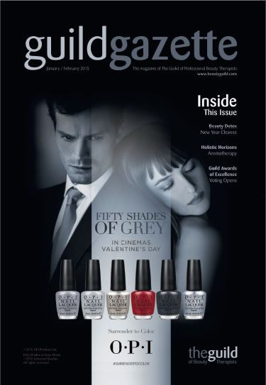 Jan/Feb 2015 Guild Gazette with OPI 50 Shades of Grey Front Cover